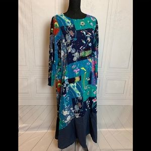 Zamora Collection Blue Flower 🌸 Patch Dress